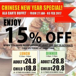[Lee's Taiwanese] What's for reunion dinner?Come and enjoy our sumptuous widespread Ala Care Buffet! Lee's Taiwanese is running a