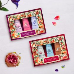 [Crabtree & Evelyn Singapore] Good things come in threes, like our beautifully packaged Hand Care Trio Gift Box! Enriched with conditioning shea butter and