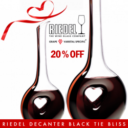 [The Oaks Cellars] SHOP NOW!Enjoy 20% OFF on Riedel Decanter Black Tie BlissExclusively Online For A Limited Time Only!http://bit.