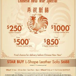 [Sofa Outlet] LAST WEEKEND to get your sofa at our Chinese New Year sofa clearance sale!Check out our STAR BUY L-