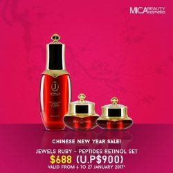 [MicaBeauty Cosmetics] In celebration of Chinese New Year 2017, here's a festive deal for everyone. Get hold of our Jewels Skincare
