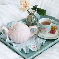 [Shabby Chic] Wake up to breakfast in bed served in #greengate!Grab the plate and cup set for just $34.90!www.