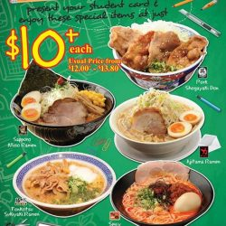 [Ramen Champion Singapore] Students, don't miss our student's special at just $10+ at Ramen Champion Bugis+!!New Shogayaki Don from DON