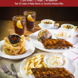 [Tony Roma's] Today is the last day to enjoy our Anniversary Set Meal for 2 at $45++ that comes with 2 glasses