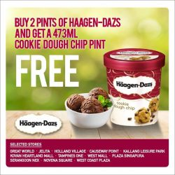 [Cold Storage] We have a treat for you this Chinese New Year! Simply buy 2 pints of any delightful Häagen-Dazs