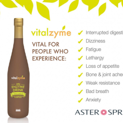 [AsterSpring Origin of Beauty] It's important for everyone to consume enzymes, as it is vital for health. Vitalzyme is a refreshing and tasty