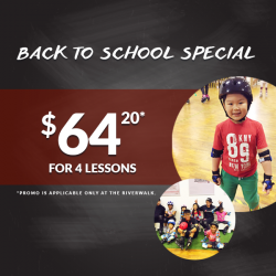 [INLINEX] Back to school special! 40% off Skate lessons package at The Riverwalk (Clarke Quay)! $64.20 for 4 lessons. For