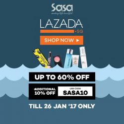 [Sasa Singapore] You have 3 more days to enjoy up to 60% off plus additional 10% off* your beauty loots from Sasa