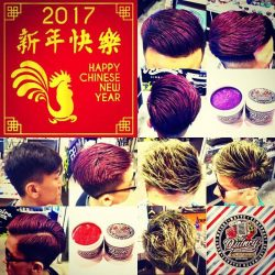 [Supershades] Get a make over for your hair for CNY 2017 by using QUINCY COLOR CHAOS temporary color matte paste! In