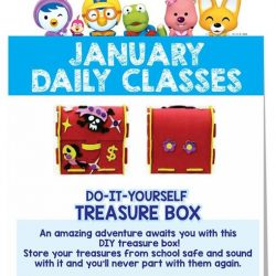 [Pornro Park Singapore] Let's start the week with Pororo Park's daily classes!Create your very own DIY treasure box at 3pm