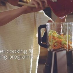[Philips] Blend and heat soups, smoothies, sauces and more with the Avance Collection Cooking Blender.With this multi-tasker, choose from