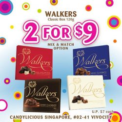 [Candylicious] Our favorite Walkers Classic Box is now on promotion at 2 boxes for S$9.00 ! Choose between milk, white,