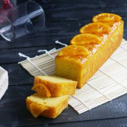 [Cedele] Our version of the orange polenta cake is gluten-free and made with poached whole mandarin oranges. It's also