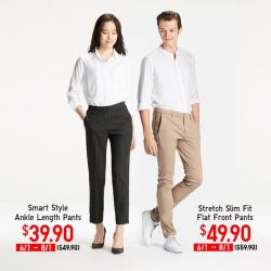 [Uniqlo Singapore] Need new pants for the new year? The women's rayon blend Smart Style Ankle Pants has a more comfortable