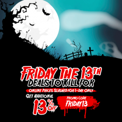 [Courts] Turn your luck around on Friday The 13th with 13% OFF* ONLINE PURCHASES!Simply apply promo code FRIDAY13 upon checkout