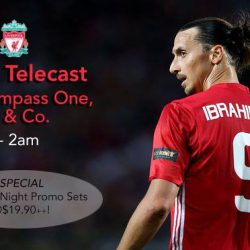 [Olivia & Co] MANCHESTER UNITED VS LIVERPOOL Tomorrow. Sunday Midnight. Epic.~ Football Night Promo Special @ $19.9++ 2x Craft Beer (Punk IPA / Golden