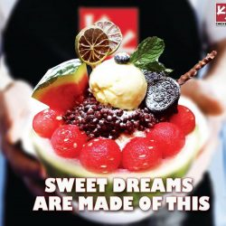 [CHICKEN UP] Watermelon Bingsu is YOUR dream come true!Imagine a dessert so sweet and refreshing you wouldn't notice how healthy