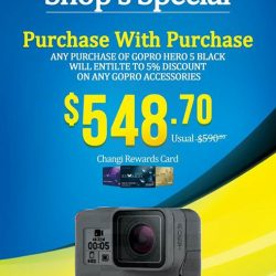 [E-Gadget Mini] Special PWP Promotion in store. Any purchase of Gopro Hero 5 Black will entitle extra 5% discount on any Gopro