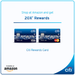 [Citibank ATM] Shop at Amazon & get 20X* Rewards with the Citi Rewards Card. Offer extended till 31 Mar 2017. T&Cs apply.
