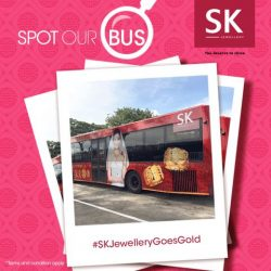 [SK GOLD] What is Red, Gold and Beautiful? Driving by you on wheels, be captivated by SK Jewellery's 999 Pure Gold