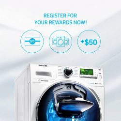 [Samsung Singapore] Do you own a Samsung washing machine? Register it now and get $10 shopping voucher and a chance to win