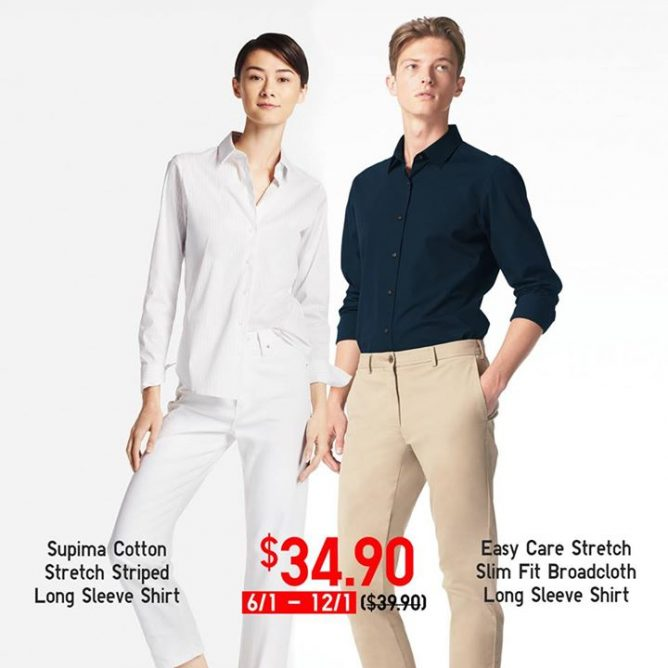 de0363a8 [Uniqlo Singapore] Enjoy great deals on these Supima Cotton Shirts and Easy  Care Shirts! These shirts stay wrinkle-resistant even after washing,