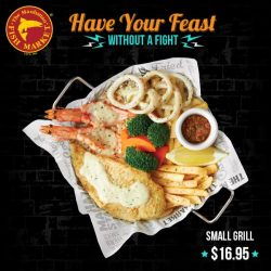 [The Manhattan FISH MARKET Singapore] Delight in 3 of your favorite seafood in one meal from $9.95. Each set comes with a glass of