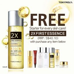 [Tony Moly Singapore] To get you all all prep up for Chinese New Year visiting, Tonymoly will be giving away our 2X First