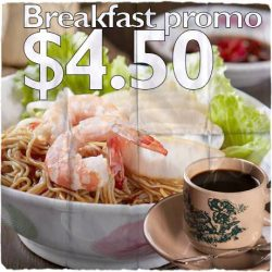 [OKG Express] Psst! Enjoy OKG's breakfast promotion at only $4.50. It comes with your choice of noodles and comes with