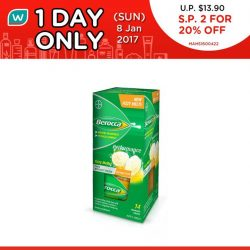 [Watsons Singapore] Great performance starts today! Here's the 2nd of our exciting 1 DAY DEAL: 2 FOR 20% OFF on BEROCCA