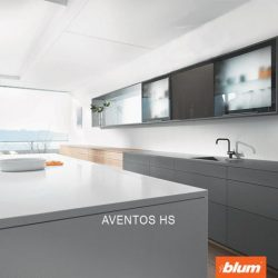[Blum & Co] Special solutions to maximise space – AVENTOS HS.The single front that opens up and over the cabinet is ideal for