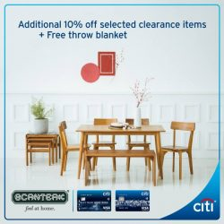 [Citibank ATM] Here's a great chance for you to do some furniture shopping for Chinese New Year at Scanteak warehouse sale!