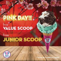 [Baskin Robbins] Chinese New Year is around the corner! Show us pink and get a free Junior Scoop when you purchase Value