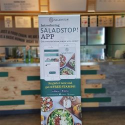 [Salad Stop] We are really happy with the successful launch of our loyalty app. If you haven't already done so, download