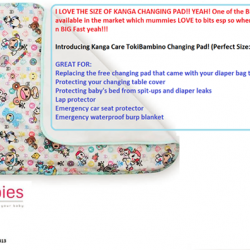 [Nichebabies] READY STOCKS AS OF NOW!! SUPERB QUALITY!!I LOVE THE SIZE OF KANGA CHANGING PAD!! YEAH! One of the BIGGER
