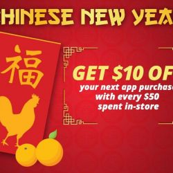 [PLAYe] Shop at any PLAYe retail outlet this Chinese New Year, to enjoy great discounts on the PLAYe App. Get all