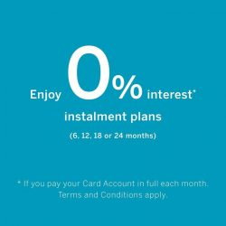 [Harvey Norman] Enjoy up to 24 months instalment payment plan at 0% interest with American Express #PaySmall.From now till 30 April