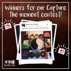 [SUKI-YA] We had a fun time viewing all your beautiful food images! Thank you everyone for participating in this contest and