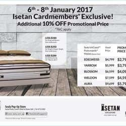 [Isetan] A new bed for the new year! Enjoy an additional 10% off promotional prices.Exclusive offer available at Isetan Scotts,