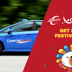 [Lazada Singapore] HUAT with $8 off ComfortDelGro Taxi App bookings! Use Code LAZCNY when making your booking! *Valid for single use only