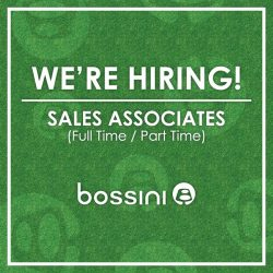 [Bossini Singapore] BOSSINI IS HIRING FULL-TIME / PART-TIME SALES ASSOCIATES! Head over to our recruitment drive at Bossini Bugis Junction #01-