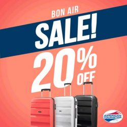 [American Tourister] Thanks to the 20% savings when you purchase a Bon Air, you can now splurge more on food and shopping