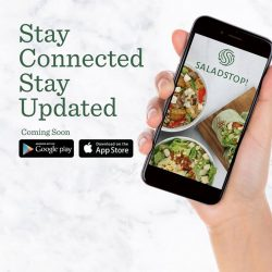 [Salad Stop] Get updated on the latest promotional items, news and perks! #eatwideawakeapp