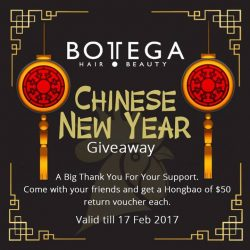 [BOTTEGA hair & beauty ] If your busy schedule always keep you from meeting your friends, use the Chinese New Year celebration to make up