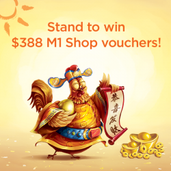 [M1] M1 customers get to prosper more in the year of the Rooster with our Lunar New Year Giveaway! Starting from
