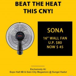 [Gain City] Beat the heat this CNY with these special fan promos available during the Gain City EXPO - Angbao Cashback sale between