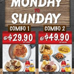 [Gelare Café] Monday to Sunday combo deals!* *Only valid at Geláre Sun Plaza.Promotion Period: 23 Jan - 19 Mar 2017 (Through