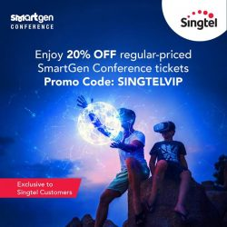 [Singtel] Exclusive for all Singtel customers! Enjoy 20% OFF regular-priced tickets to MediaCorp's first ever Tech Conference for Youths