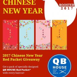 [QB House Premium] QB HOUSE specially designed Red Packet Giveaway Campaign starts from 20 to 26 January 2017 at all outlets islandwide. Receive