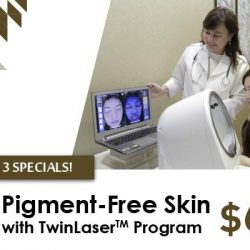 [ClearSK® Medi-Aesthetics] Stay Pigment Free with TwinLaser @$68! Call us at Tel: 6100 6868 for an appointment today!
